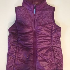 Lands End Vest with Flower Embroidery M 10-12